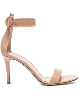 Ankle Strap Leather Heels