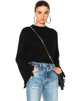 Cropped Ruffle Pullover Sweater