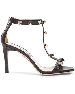 Lamba Cube Studded Leather Heels