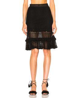 Ruffle Crochet Layered Mini Skirt