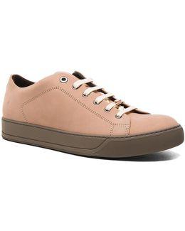 Nubuck Calfskin Low Top Sneakers