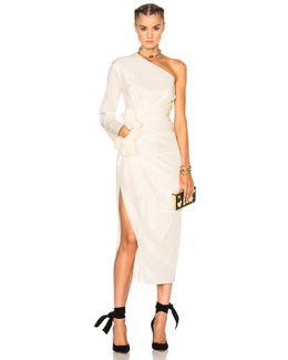 One Shoulder Silk Dress