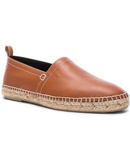 Leather Anagram Espadrilles