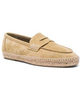 Suede Loafer Espadrilles