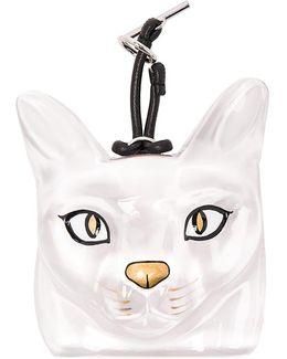 Clear Cat Bag Charm
