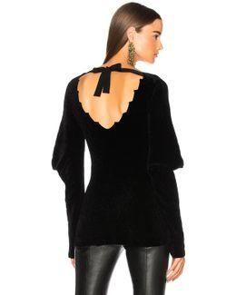 Velvet V Neck Sweater