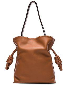 Flamenco Knot Bag In Tan