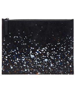Pollock Effect Clutch Bag