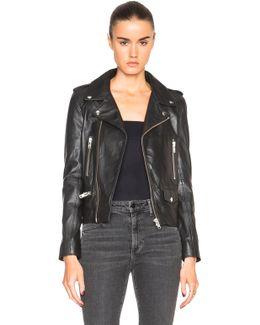 Leather Zip Biker Jacket
