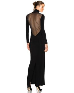 Low Back Mesh Dress