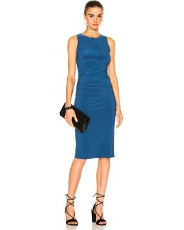 Sleeveless Shirred Waist Dress