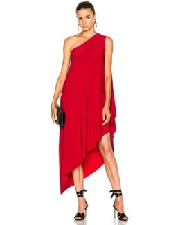 One Shoulder Diagonal Dress