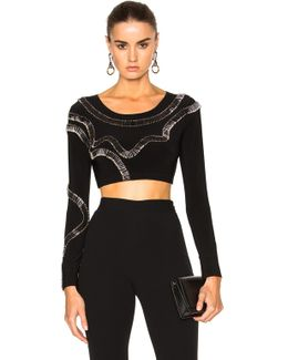 For Fwrd Safety Pins Cropped Top