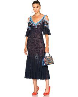 Lace Jacquard Knit Dress