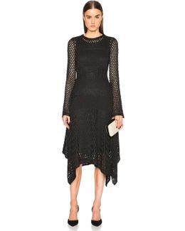 Open Stitch Handkerchief Hem Dress