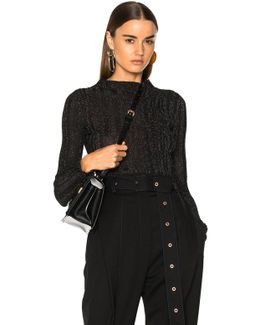 Lurex Turtleneck Sweater In Black