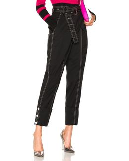 Lightweight Wool Suiting Cuffed Straight Pant