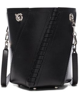 Crossbody Hex Bucket Whipstitch Leather