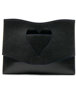 Curl Medium Cut-out Leather Clutch Bag