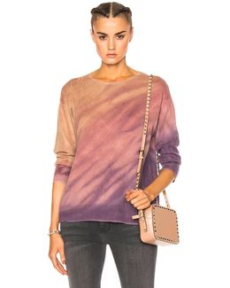Crop Sleeve Boxy Crew Sweater