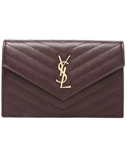 Quilted Monogramme Chain Wallet