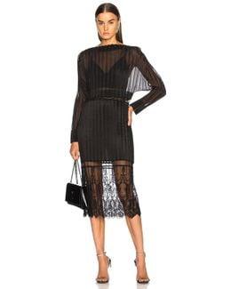 Carey Cotton Mix Midi Dress