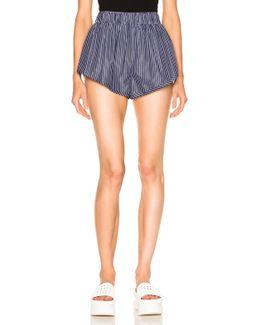 Stripe Shirting Shorts