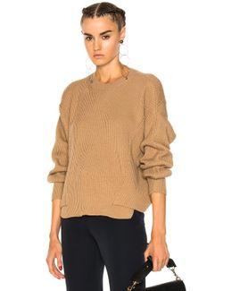 Ribbed Crew Neck Sweater