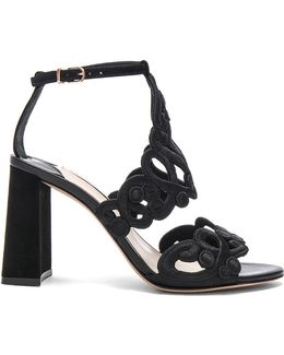 Embroidered Albany Mid Sandals