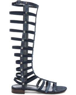 Denim Gladiator Sandals