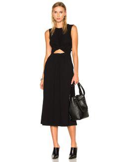 Cotton Jersey Twist Front Muscle Dress