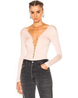 Modal Spandex Lace Up Bodysuit