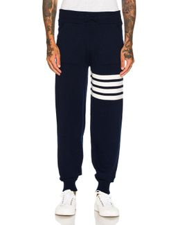 Cashmere 4 Bar Stripe Sweatpants