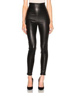 Jessica High Waisted Leather Leggings