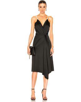 Heavy Fluid Silk Wrap Dress