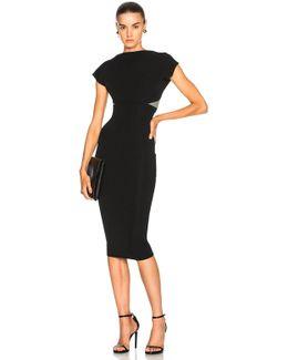 Dense Rib Backless Fitted Midi Dress