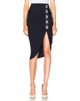 Marlow Lace Up Ruched Skirt