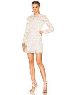 Heavy Lace Long Sleeve Mini Dress