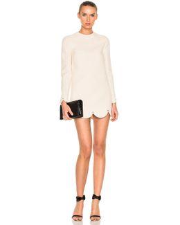 Scallop Hem Mini Dress