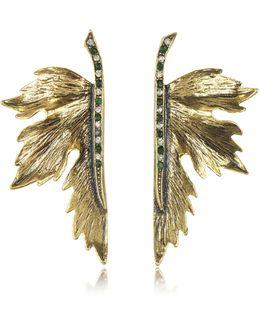 Nymph Goldtone Brass Earrings
