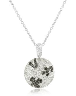 Black Cubic Zirconia And Zircon Sterling Silver Necklace
