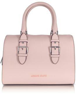 New Light Pink Eco Leather Satchel Bag