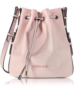 New Light Pink Eco Leather Bucket Bag