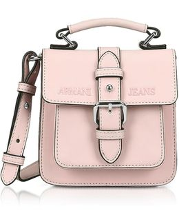 New Light Pink Eco Leather Crossbody Bag