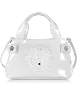 Signature Mini Patent Leather Tote Bag