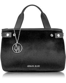 Eco Leather & Hair-calf Tote Bag