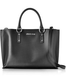 Black Signature Tote Bag