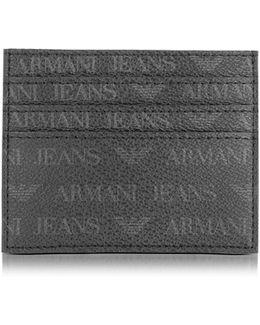 Black Signature Eco Leather Men's Card Holder