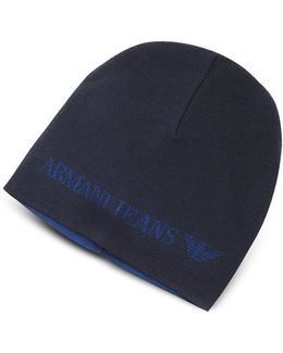 Solid Wool Blend Men's Beanie Hat