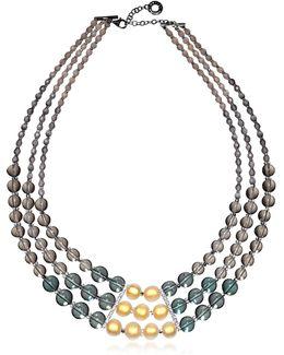 Atelier Nuance - Grey & Amber Murano Glass Choker